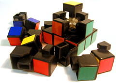 Rubik's Cube disassembled