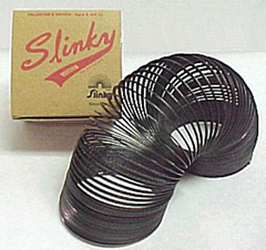 Slinky toy and box
