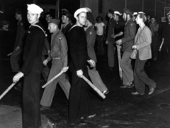 Sailors looking for zoot suits
