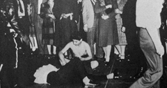 Rioters stripping zoot suit wearers