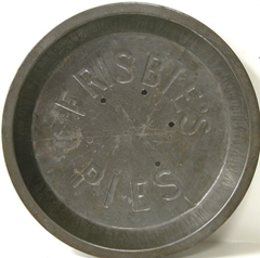 Pie Pan from the Frisbie Pie Company