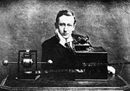 Marconi and his Spark Gap Radio Transmitter