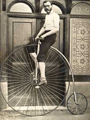 Rider on a Penny Farthing Bicycle