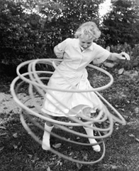 Woman Hula Hooping in the 1960's
